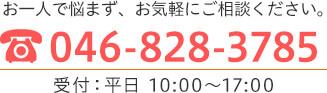 TEL:046-828-3785 受付:平日10:00~17:00